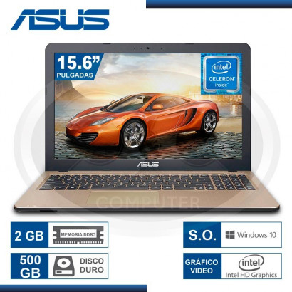 "NOTEBOOK ASUS X540SA-XX002T CEL. N3050 /2GB/500GB/15.6""/ DVD-RW/WIN 10/ BLACK (G. LA MARCA)"