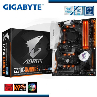 MB GIGABYTE AORUS Z270X-GAMING 5  2*M.2/USB3.1-USB TYPE-C /HDMI-DP(GA-Z270X-GAMING 5)