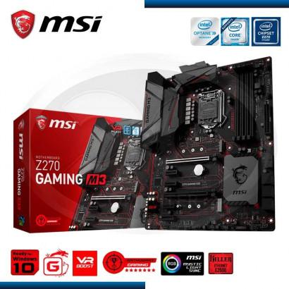 MB MSI Z270 GAMING M3 DDR4, LGA 1151, 7th /6th GENE. HDMI, DVI-D, 2X PCIE 16X, 4X PCIE X1