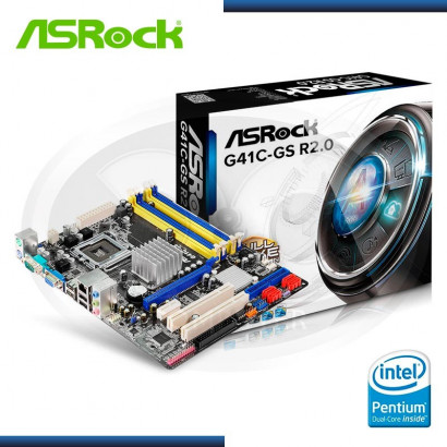 PLACA ASROCK G41C-GS R2.0 V-S-LAN LGA 775, DDR2 - DDR3