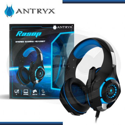 AUDIFONO C/ MICROFONO GAMER ANTRY RASOP  BLACK/BLUE USB (PN: AGH-3000BM)