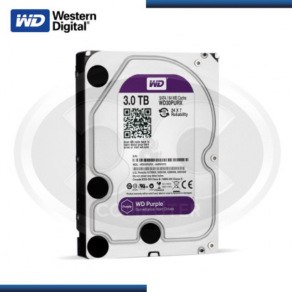 DISCO DURO WD PURPURA 3TB SATA3 6GB/s 64MB 24X7