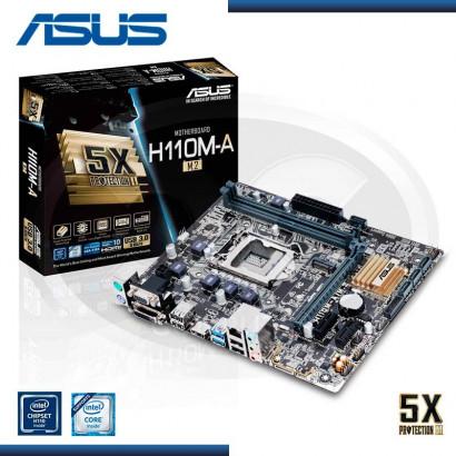 MB ASUS H110M-A M.2 C/VIDEO- SONIDO-RED DDR4 LGA 1151 USB 3.0 (PN:90MB0R60-M0AAY0)