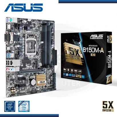 MB ASUS B150M-A/M.2 C/VIDEO-SONIDO-RED DDR4 S. LGA 1151 (PN:90MB0RR0-M0AAY0)