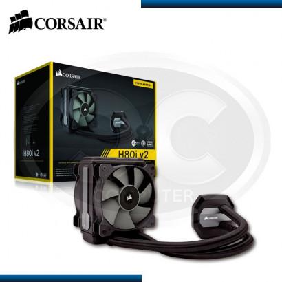 COOLER PARA PROCESADOR LIQUIDO CORSAIR H80 I V2 BLACK (PN:CW9060024-WW)