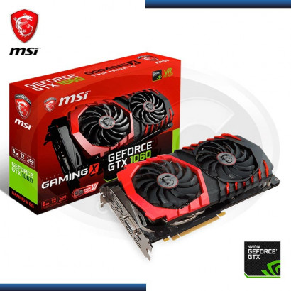 VIDEO PCI-EXP. MSI NVIDIA GEFORCE GTX 1060, 6GB GDDR5 192-BIT, HDMI/DP/DVI (PN: 912-V328-001)