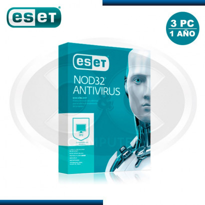 ESET NOD32 ANTIVIRUS V.2017 LICENCIA ANUAL 3PC