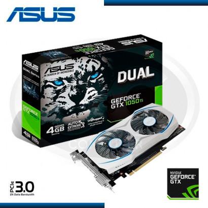 VIDEO PCI EXP. GEFORCE ASUS DUAL GTX1050 TI OC 4GB, GDDR5, 128 BIT DUAL-GTX1050TI-O4G (PN:90YV0A50-M0NA00)