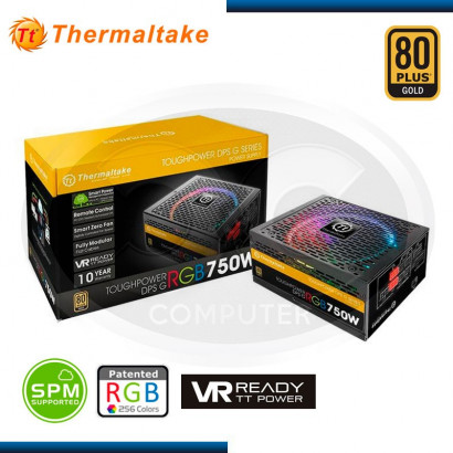 FUENTE THERMALTAKE 750W DPS, RGB 80 PLUS GOLD (PN:PS-TPG-0750DPC-GUS-R)