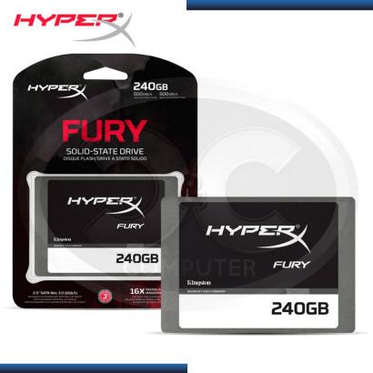 DISCO DURO SSD 240GB KINGSTON HYPERX FURY BLACK SATA3, 2.5