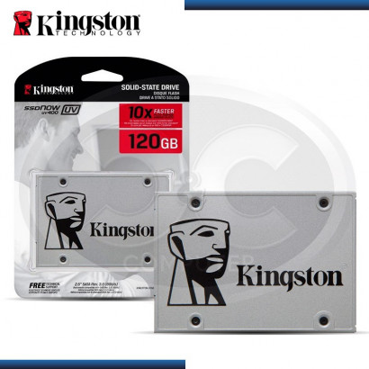DISCO DURO SOLIDO KINGSTON SSDNOW UV400 120 GB 2.5 SATA (PN:SUV400S37/120G)