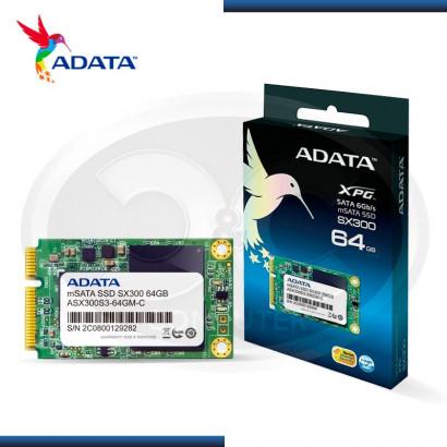 """SSD 64GB ADATA XPG SX300 MSATA  2.5"""""""