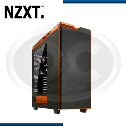 CASE NZXT H440 RAZER BLACK/ORANGE NEW EDITION, USB 3.0, S/ FUENTE, MID TOWER (PN:CA-H442W-MO)