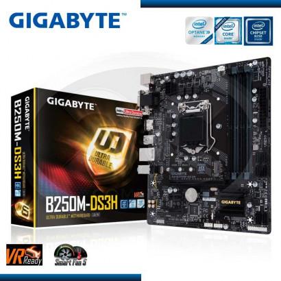 MB GIGABYTE GA-B250M-DS3H C/VIDEO- SONIDO-RED DDR4 LGA 1151 HDMI,DVI