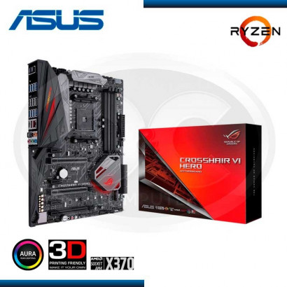 MB ASUS ROG CROSSHAIR VI HERO X370 AMD RYZEN AM4 DDR4, M.2 USB 3.1, ATX,