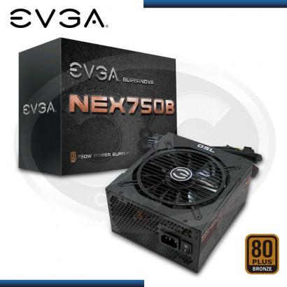 FUENTE EVGA SUPERNOVA NEX 750B, 750W, 80 PLUS BRONZE (PN: 110-B1070-VR)