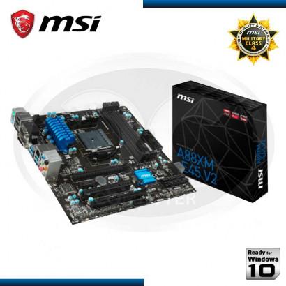 PLACA MSI A88XM-E45 V2 C/ V-S-R, FM2+, M-ATX