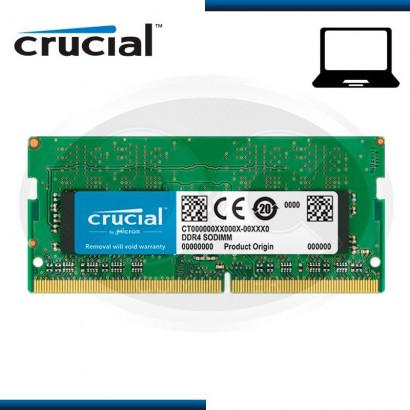 MEMORIA SODIMM CRUCIAL DDR4 4GB 2133 1.2V MOD:CT4G4SFS8213)