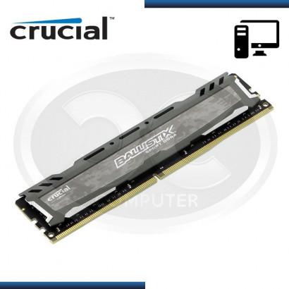 MEMORIA CRUCIAL BALLISTIX SPORT LT GRAY DDR4 16GB 2400MHz, 1.2v, C/DISIPADOR (N/P BLS16G4D240FSB)
