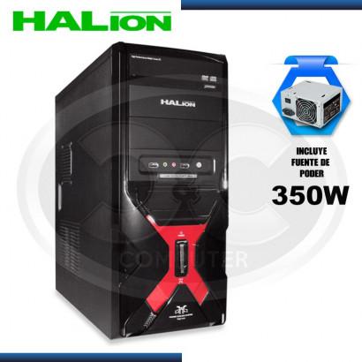 CASE HALION MERCURY 7330C ROJO C/FUENTE 350W REALES, USB 3.0