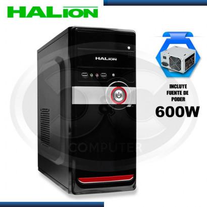 CASE DATAONE SPLIT 497HBR ROJO C/ FUENTE 600W, USB 2.0