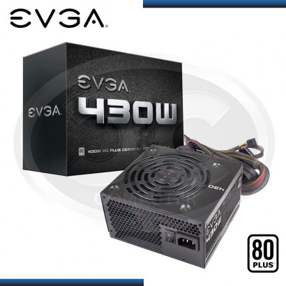 FUENTE EVGA POWER SUPPLY 430W 80 PLUS (PN:100-W1-0430-KR)