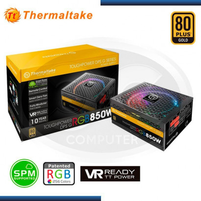 FUENTE THERMALTAKE 850W DPS, RGB 80 PLUS GOLD (PN:PS-TPG-0850DPC-GUS-R)