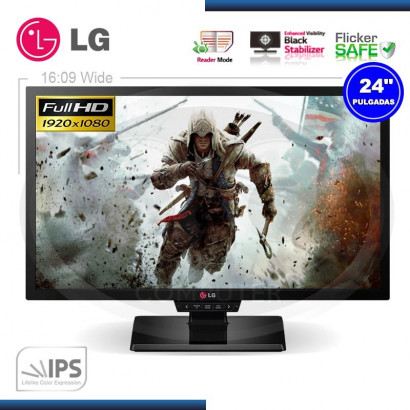 MONITOR LED 24 LG 24GM77-B GAMING 1920x1080, HDMI, DP, DVI, VGA, 1MS, PIVOT