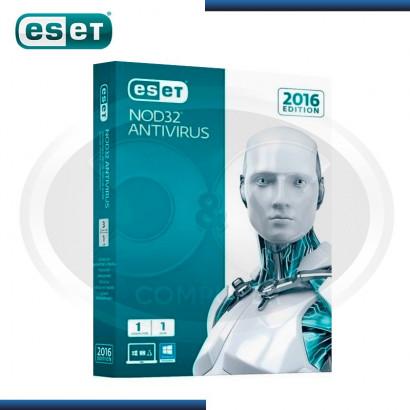 ESET NOD32 ANTIVIRUS V.2016 LICENCIA ANUAL 1PC