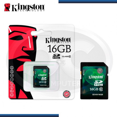 MEMORIA SD 16GB KINGSTON SD10V/16GB, CLASE 10