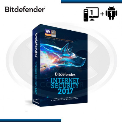 BITDEFENDER INTERNET SECURITY 2017 1PC 15 MESES + 1 ANDROID