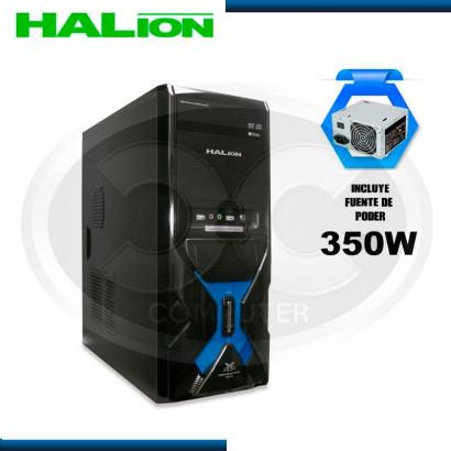 CASE HALION MERCURY 7330A AZUL C/FUENTE 350W REALES, USB 3.0