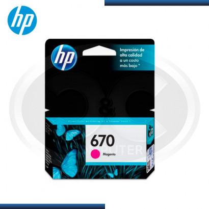 TINTA HP Nª 670 (CZ115AL)  MAGENTA (300 PAG)