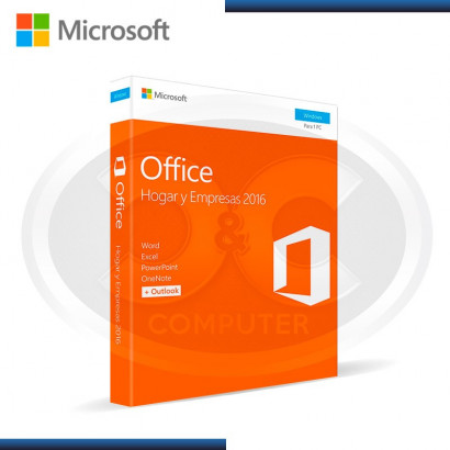 MICROSOFT OFFICE HOGAR & EMPRESA 2016 1PC (PN:SKU-T5D-02713)