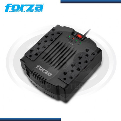 ESTABILIZADOR FORZA 1200VA FVR-1202 8 TOMAS IMPORTADO
