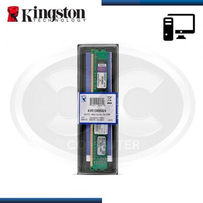 MEMORIA KINGSTON DDR3 4GB BUS 1333MHZ (PC3- 10600) CL9, 1.5V (MOD:KVR13N9S8/4)