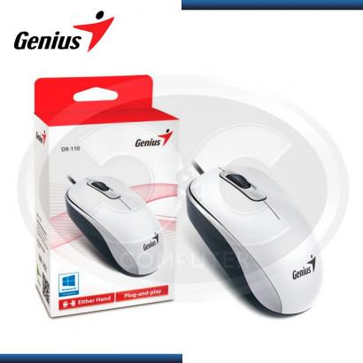 MOUSE GENIUS DX- 110 USB OPTICO WHITE 1000 DPI (PN 31010116102)