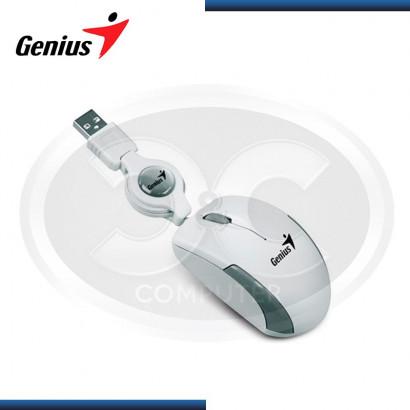 MOUSE OPTICO GENIUS MICRO TRAVELER V2 WHITE, RETRACTIL, USB (PN 31010125104)