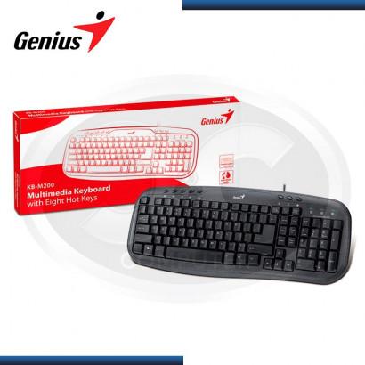 TECLADO GENIUS KB-M200 USB ESPAÑOL NEGRO (PN 31310049104)