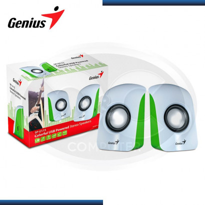 PARLANTE 2.0 GENIUS SP-U115 USB, 1.5W, BLANCO