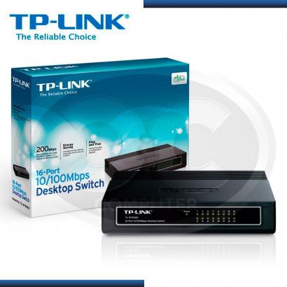 SWITCH TP-LINK TL-SF1016D 16 PUERTOS 10/100 MBPS