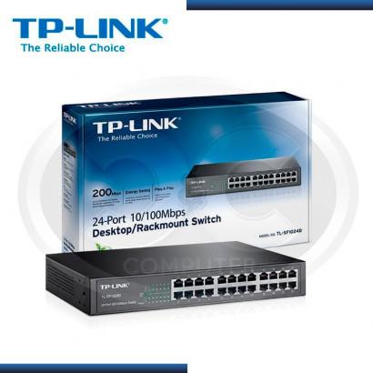 SWITCH TP-LINK TL-SF1024D 24 PUERTOS 10/100 MBPS ESCRITORIO (G. TP LINK)
