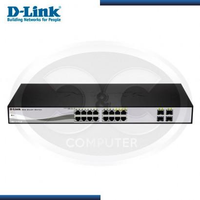 SWITCH WEB SMART D-LINK DGS-1210-16 PTOS GIGABIT C/4 PTOS COMBO SFP (G DLINK 080000968)
