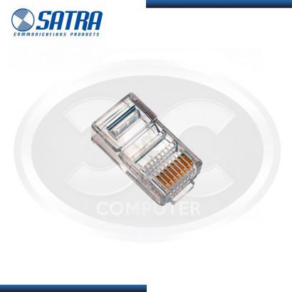 CONECTORES PLUG RJ-45 CAT.5E  SATRA(CAJA X 100 UNID)