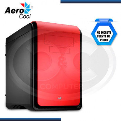 CASE AEROCOOL DS CUBE BLACK/RED S/FUENTE