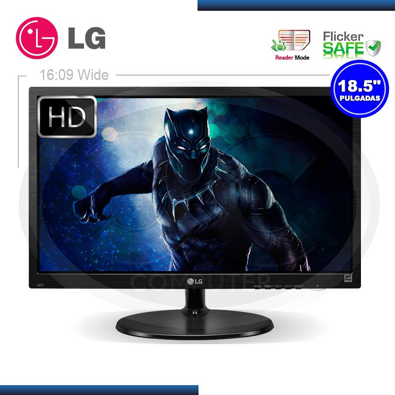 """MONITOR LED 18.5"""" LG 19M38A-B 1366x768 VGA"""