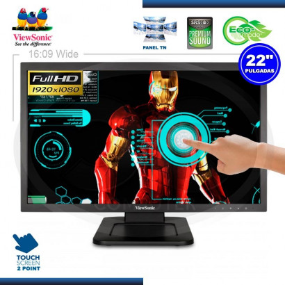 MONITOR LED 22° VIEWSONIC TD2220 MULTI TOUCH F-HD