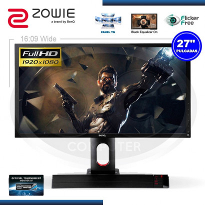 "MONITOR LED 27"" BENQ ZOWIE XL2720 GAMING 1920 x 1080, 144Hz, 1MS, VGA, DVI, HDMI, DP, USB"