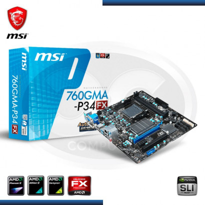 MB MSI 760GMA-P34 (F X) C/ VIDEO, SONIDO,RED DDR3-1066/1333 SOCKET AM3 +