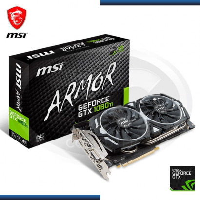 VIDEO PCI-E MSI GEFORCE GTX 1080 TI 11GB GDDR5X, TWIN FROZR  352BIT (GTX 1080 TI ARMOR 11G OC)